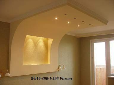 фото стены и потолки из гипсокартона