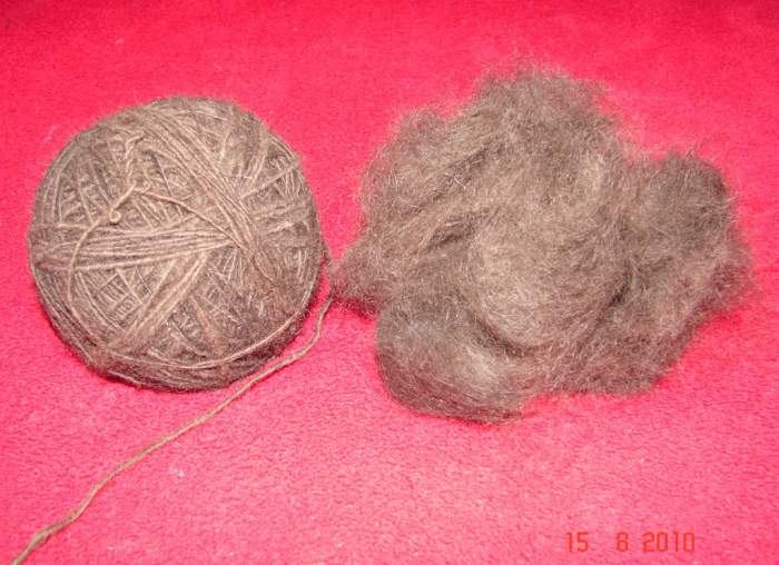 Собачья шерсть как сделать нитки